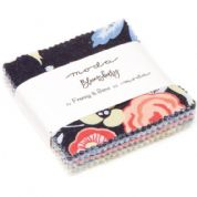 "Bloomsbury - Mini Charm by Franny & Jane for Moda Fabrics - 42 x 2.5"" fabric squares (7)"
